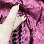 Ткань вельвет вискозный на хлопковой основе супер стрейч брусника цена за отрез., фото 3
