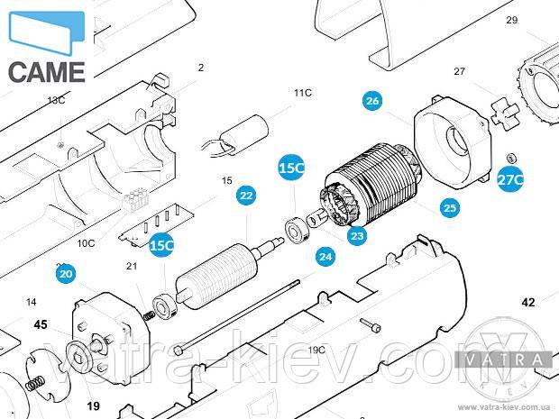 мотор Came ATI 119rid109 A3000A A5000A купить цена
