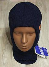 Шапка шлем на хлопчика Польща GRANS арт 1382,синій р 46/48.