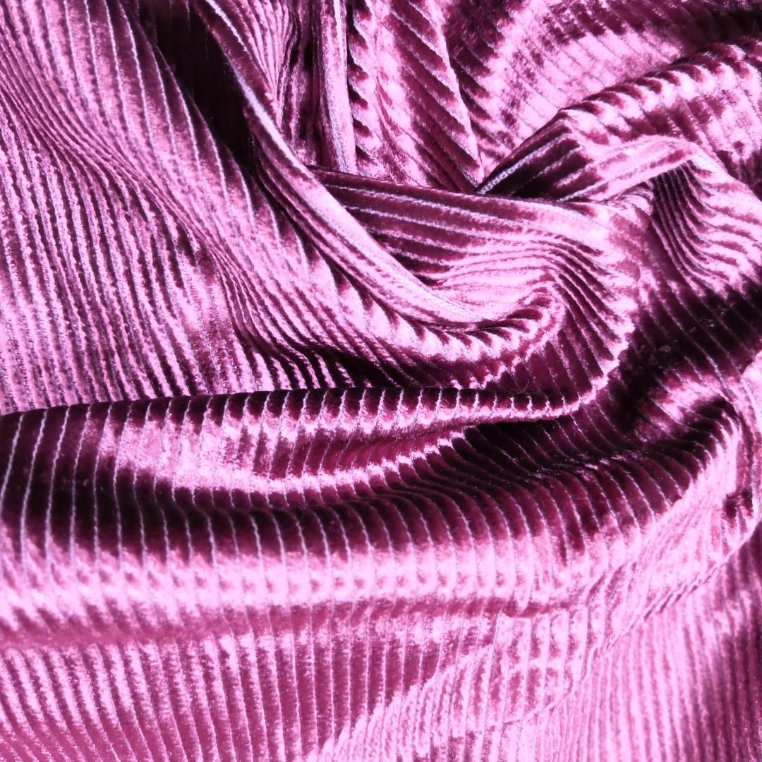 Ткань вельвет вискозный на хлопковой основе супер стрейч брусника цена за отрез.