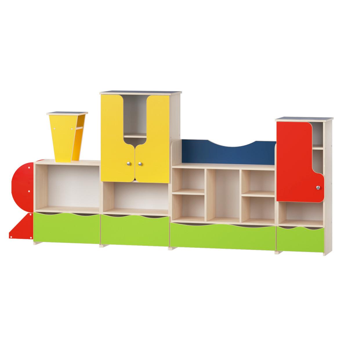 Стенка детская для игрушек Design Service Паровозик-2 (1149)
