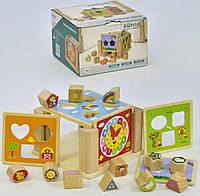 Деревянный куб сортер C 31518