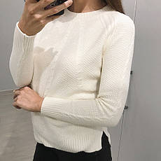 Женский свитер шерстяная вязка , фото 3