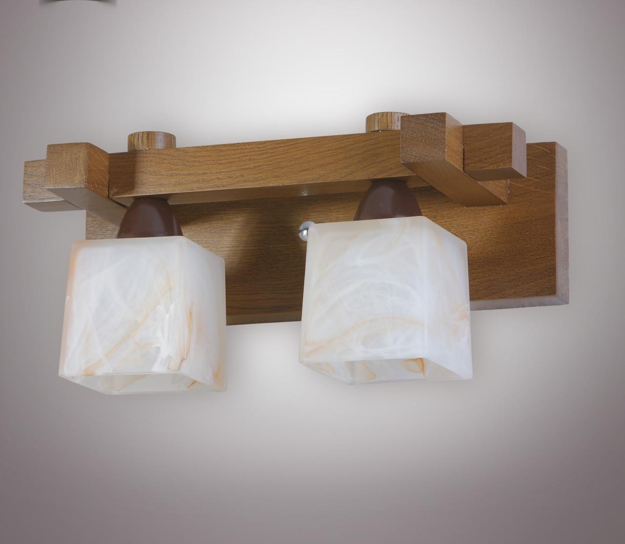 Бра деревянное двухламповое  4302-1