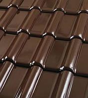 Черепица керамическая ROBEN MONZA plus (Монза плюс) Глазурь шоколадно-коричневая, фото 1