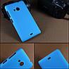 Чехол накладка бампер для Microsoft Lumia 535 голубой