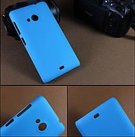 Чехол накладка бампер для Microsoft Lumia 535 голубой, фото 1