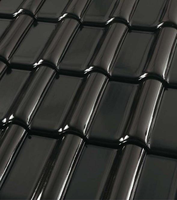 Черепица керамическая ROBEN MONZA plus (Монза плюс) Глазурь черно-коричневая