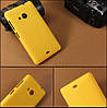 Чехол накладка бампер для Microsoft Lumia 535 желтый