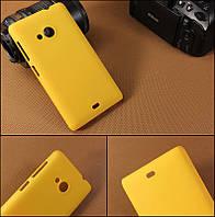 Чехол накладка бампер для Microsoft Lumia 535 желтый, фото 1