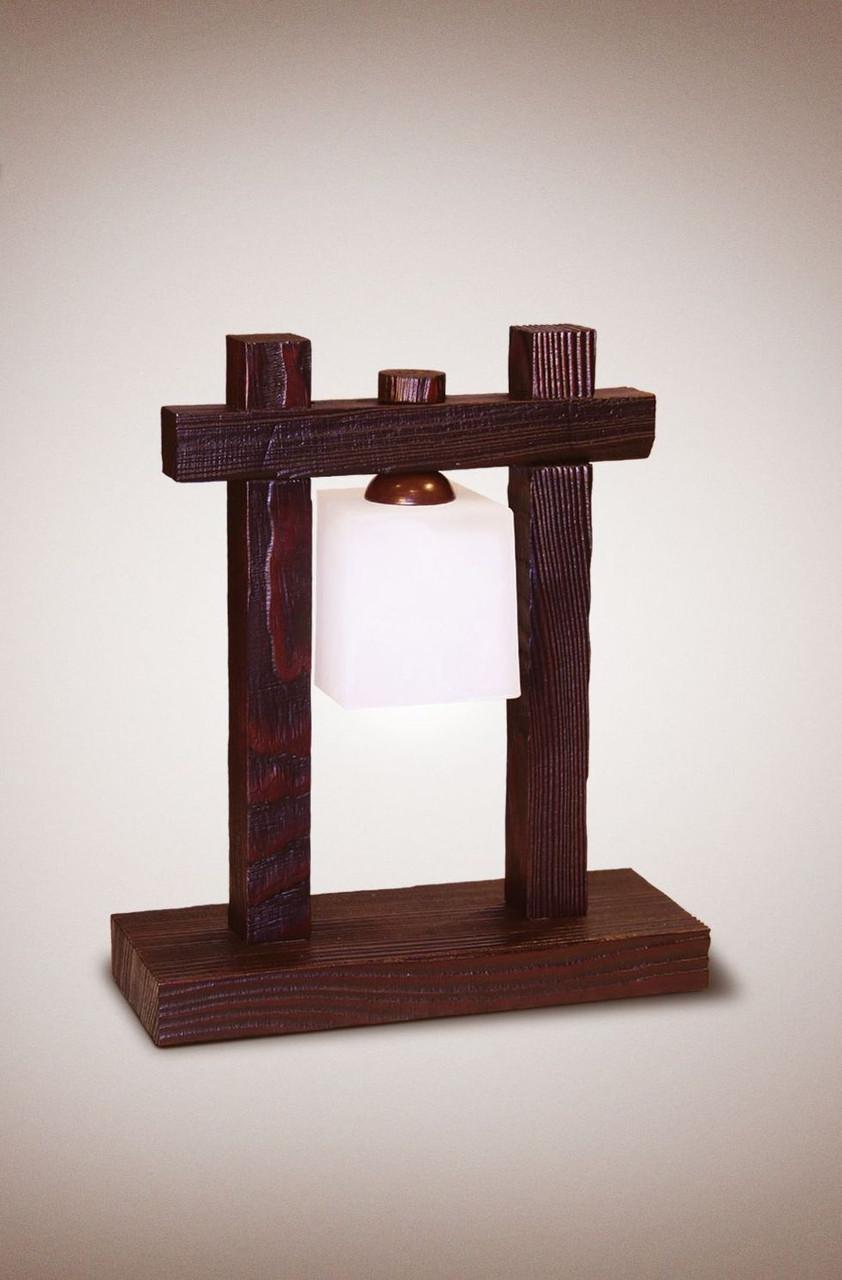 Деревянная настольная лампа 4300