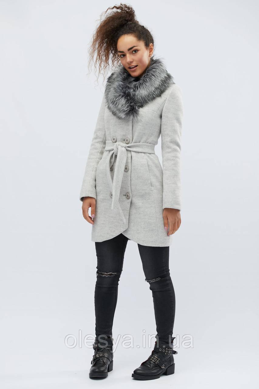 Зимнее пальто LS-8766-20, (Светло-серый)