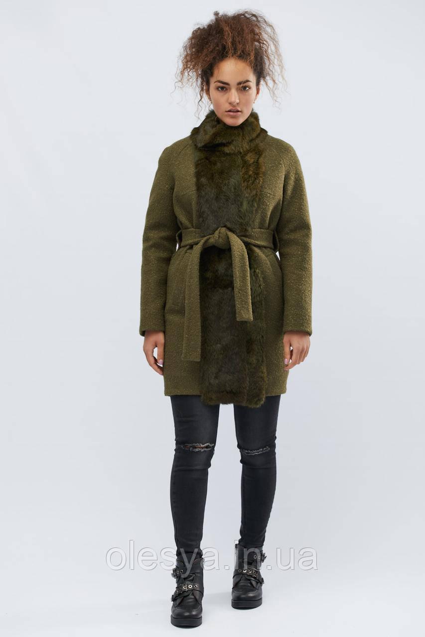 Зимнее пальто LS-8767-1, (Оливковый)
