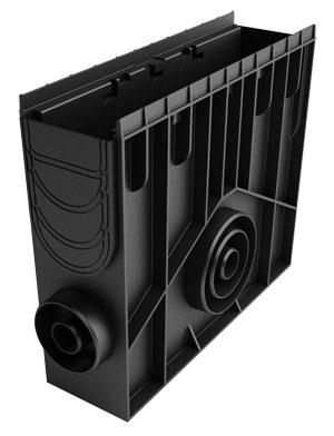 Пісковловлювач 100 h435 пластиковий у зборі (чорний)