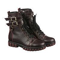 Зимние кожаные ботинки для девочки Villomi бордовые (р.31-36) 46cc6b8b3906d
