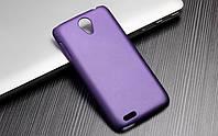 Чехол накладка бампер для Lenovo S650 фиолетовый