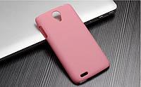 Чехол накладка бампер для Lenovo S650 розовый