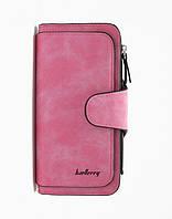 Женский замшевый клатч Baellerry Forever N 2345 | кошелек | портмоне розовый