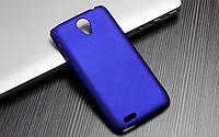 Чехол накладка бампер для Lenovo S650 синий