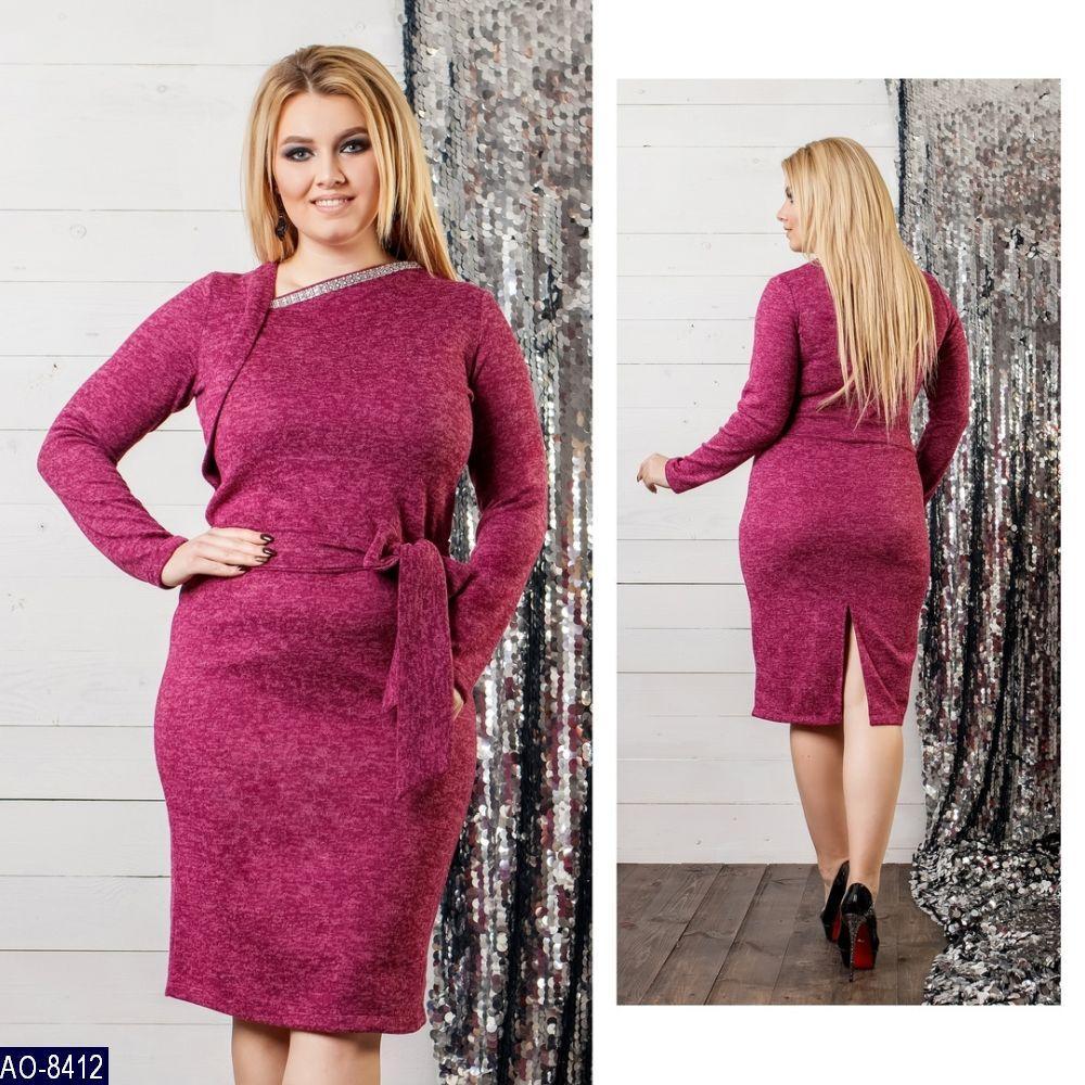Стильное платье   (размеры 48-58)  0145-63