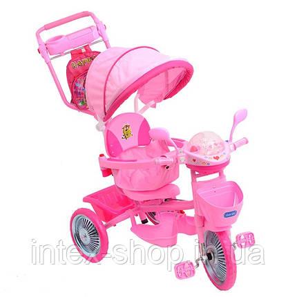 Трехколесный велосипед Profi Trike ET A18-9-1 Розовый, фото 2