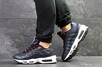 Мужские кроссовки Nike 95, артикул 7076 темно синие, фото 1