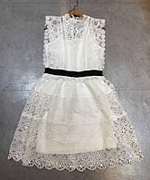 Платье Self-Portrait  женское кружевное, белое, нарядное.