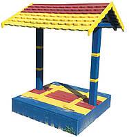 Песочница с крышей детская деревянная Боровичок с крышкой