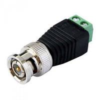 Разъем/коннектор BNC под винт 75 Ом JF5121 для подсоединения камеры к регистратору (Мама, Розетка, Гнездо)