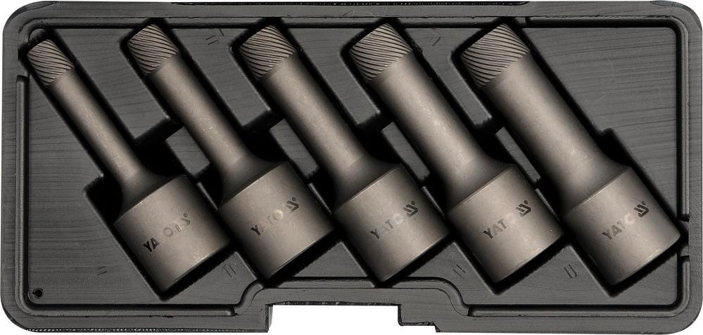 Экстракторы для выкручивания болтов под трещотку 1/2'' YATO YT-0624