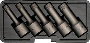 Экстракторы для выкручивания болтов под трещотку 1/2'' YATO YT-0624, фото 2