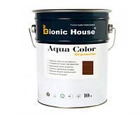 Краска для дерева Bionic-House Aqua Color UV-protect 10л Орех А110