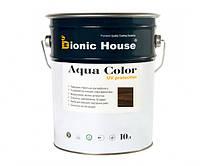 Краска для дерева Bionic-House Aqua Color UV-protect 10л Палисандр А111