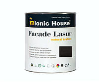 Краска для дерева FACADE LASUR Bionic-House 2,8л Черное дерево А120