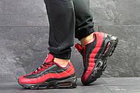 Мужские кроссовки демисезонные Nike 95, черные с красным