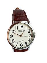 Часы Orlext  мужские кварцевые на ремешках Коричневый