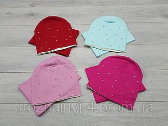 Трикотажная шапка и хомут, подкладка х/б р50-52.