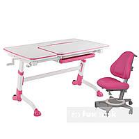 Комплект подростковая парта для школы Amare Pink + ортопедическое кресло Bravo Pink FunDesk , фото 1