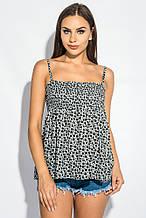 Блузка, рубашка женская стильная 266F011-11 (Серо-черный)