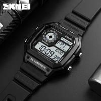 Skmei 1299 черные мужские спортивные  часы