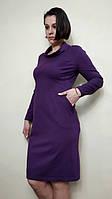 Женское трикотажное платье с карманами П27, фото 1