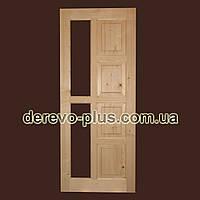 Двері з масиву дерева 80см (під скло) s_02803