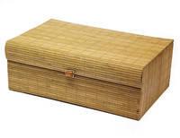 Шкатулка бамбуковая светло-коричневая