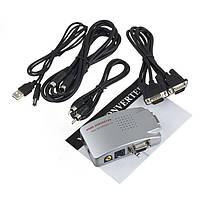 VGA на to TV RCA, S-Video видео конвертер, адаптер