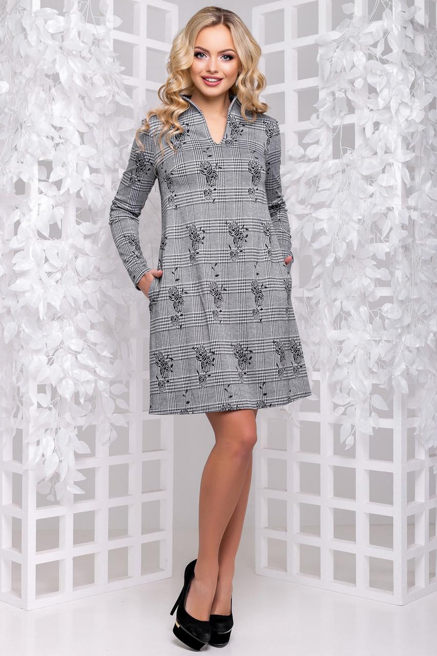 18457c083eb Демисезонное Платье Свободного Фасона 2895 — в Категории