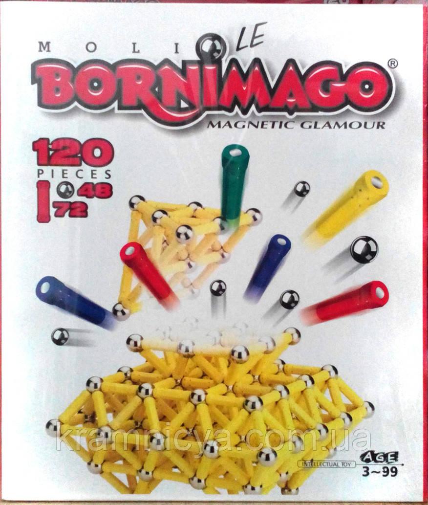 Магнитный конструктор Bornimago ML-120LЕ (120 деталей)