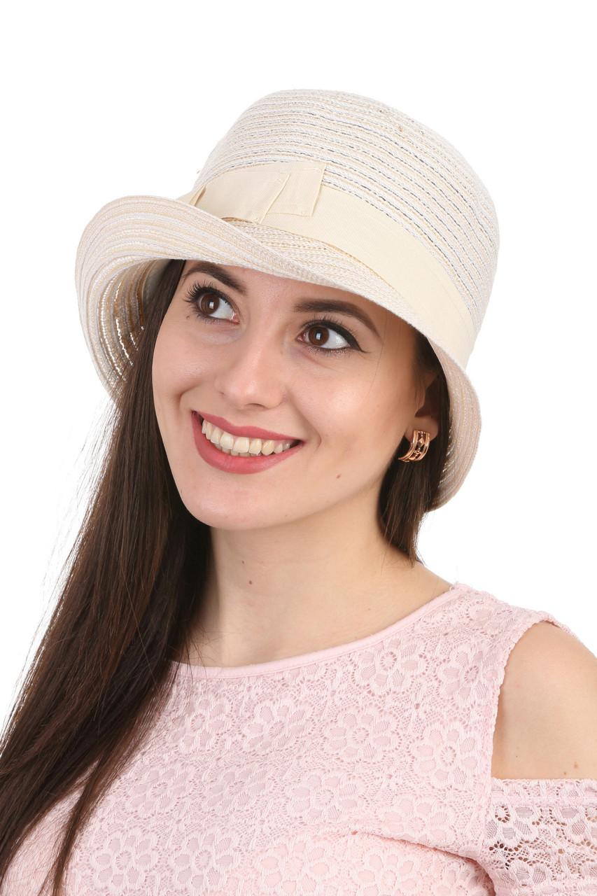 Шляпа асимметричная молочная