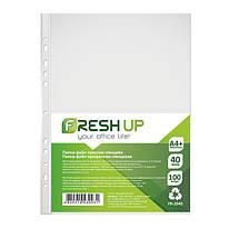 Файлы А4 глянцевые 40 мкм 100 штук/упаковка, Fresh Up, FR-2040, 600459