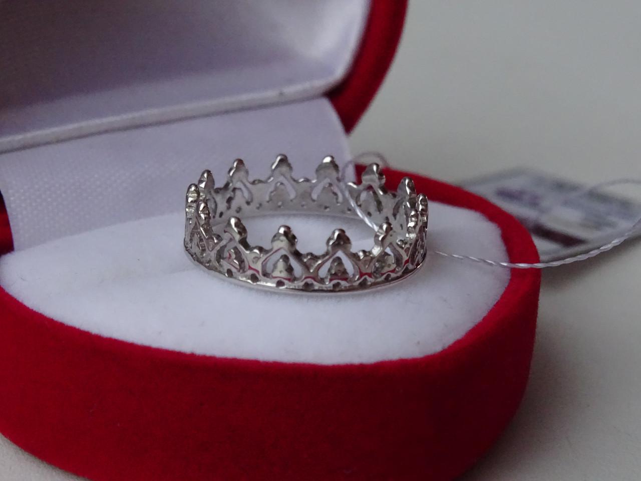 """Дизайнерское серебряное кольцо """"Корона"""""""