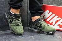 Мужские кроссовки Nike 7066 зеленые, фото 1